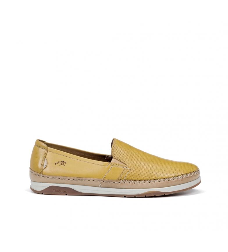Comprar Fluchos Chaussures en cuir Kendal F0814 jaune
