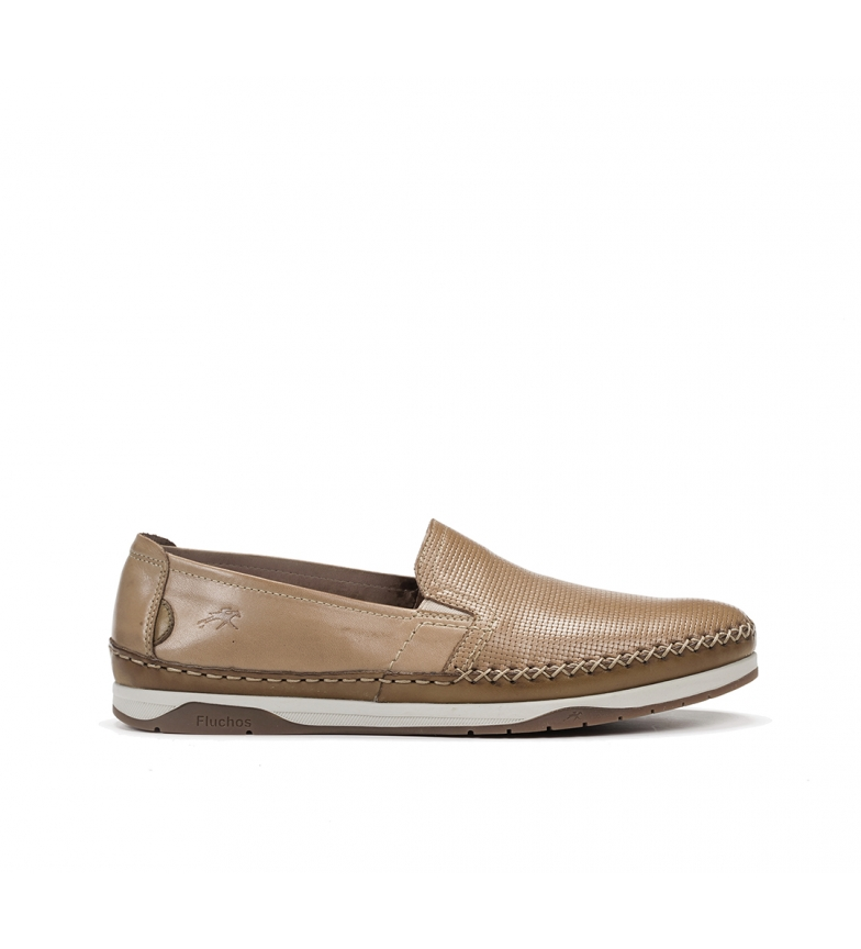 Comprar Fluchos Chaussures en cuir Kendal F0814 beige