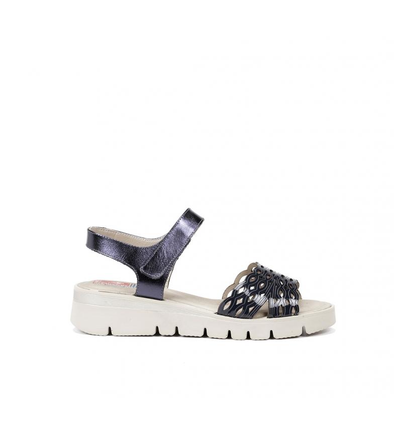 Comprar Fluchos Sandálias de couro Texa F0834 marinho