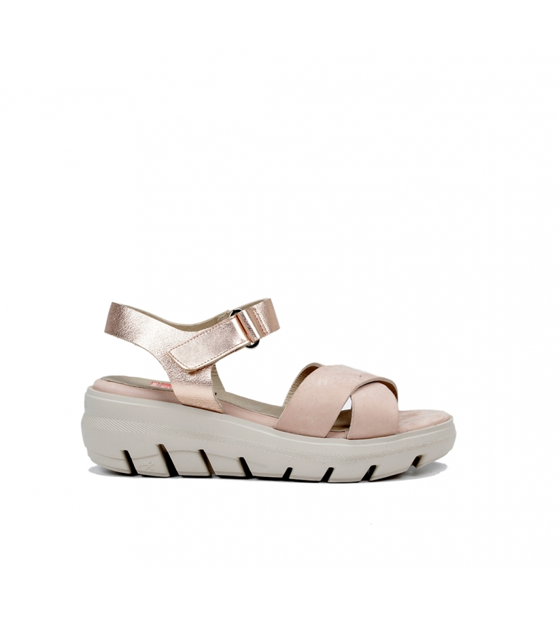 Comprar Fluchos Leather Sandals Lime F0839 nude - Platform wedge height: 6 cm