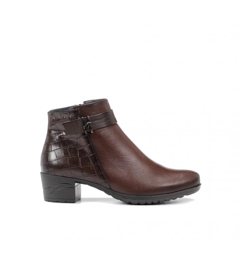 Comprar Fluchos Charis leather ankle boots F0940 Sugar brown