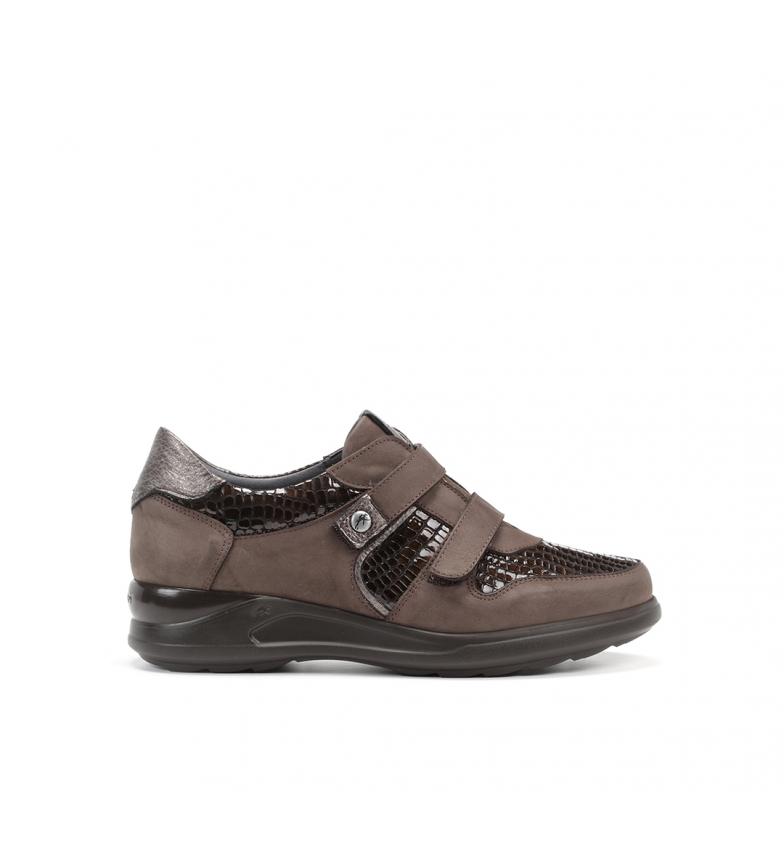 Comprar Fluchos Sapatos de couro F0953 Nobuck castanho