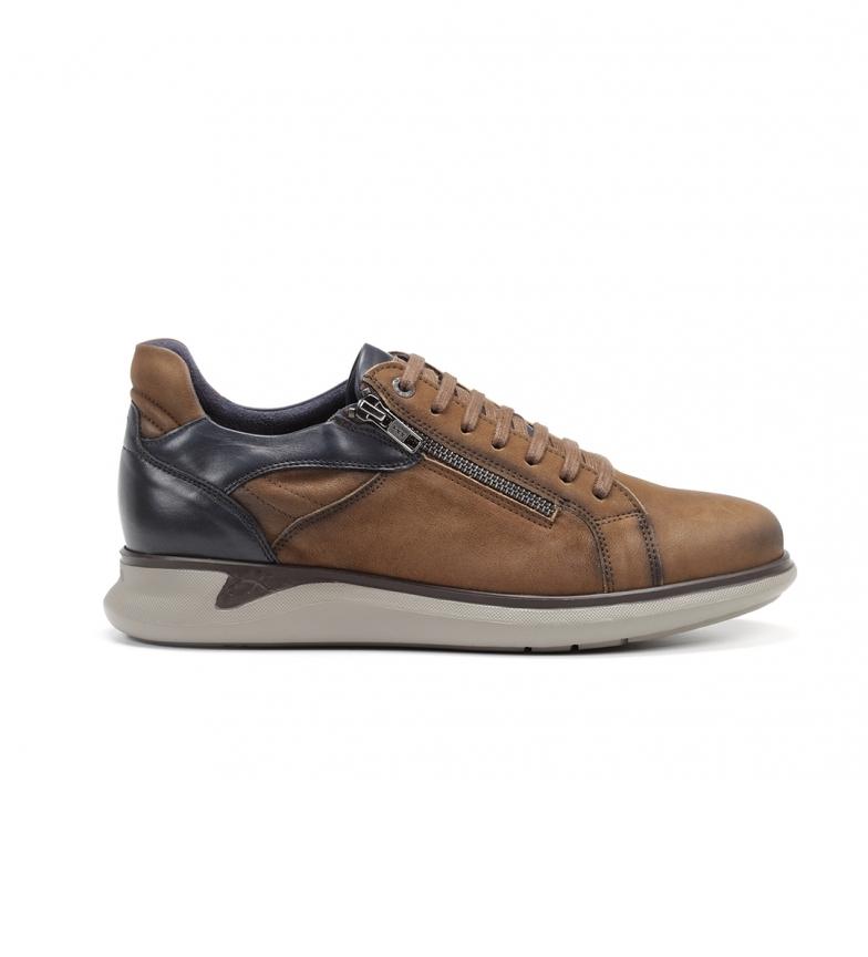 Comprar Fluchos Cooper F0964 tênis de couro marrom