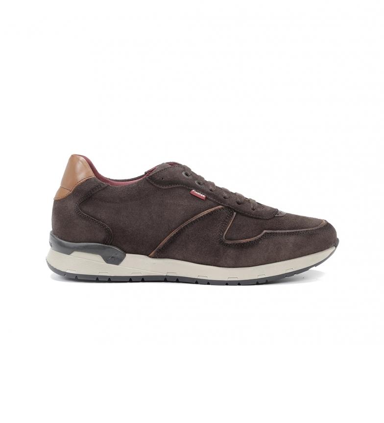 Comprar Fluchos Pantofole in pelle marrone Emory F1030