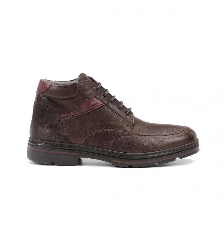 Comprar Fluchos Botas de couro castanho para tornozelo F1047