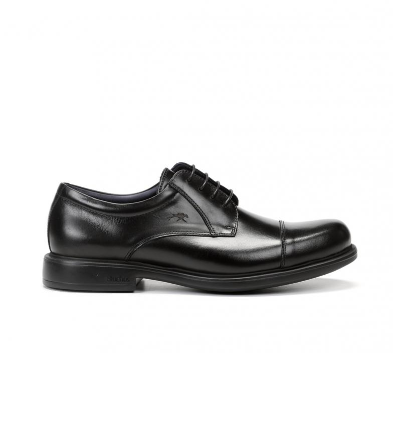Fluchos Waldo F1097 Sapatos Premium em couro preto