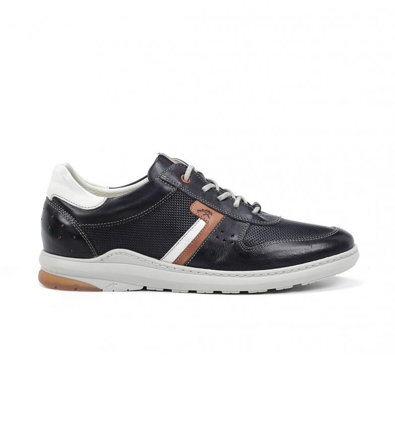 Comprar Fluchos F1162 Gange sneakers in pelle blu navy
