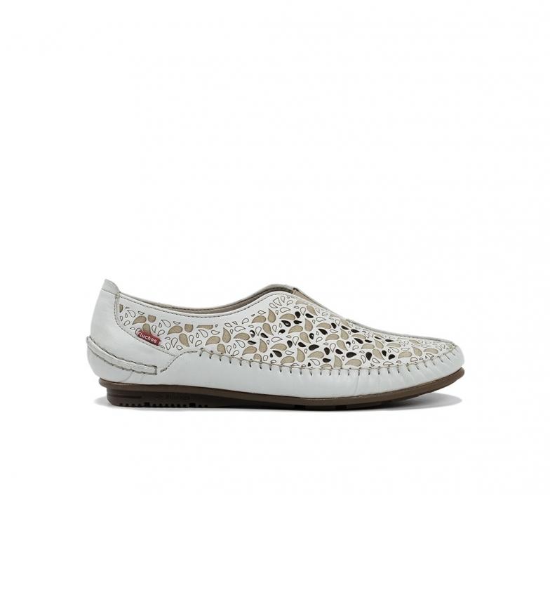 Comprar Fluchos Zapatos de piel F1182 habana blanco