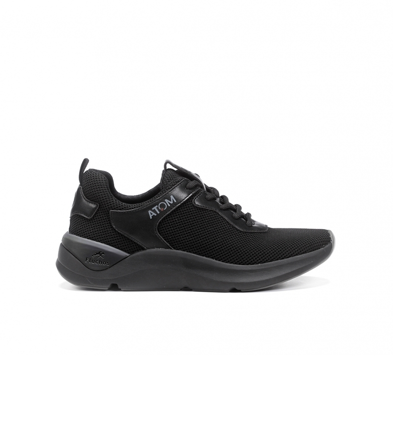 Fluchos Leather Sneakers F1253 activity black