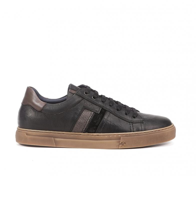 Fluchos Zapatillas de piel Niko F1337 negro