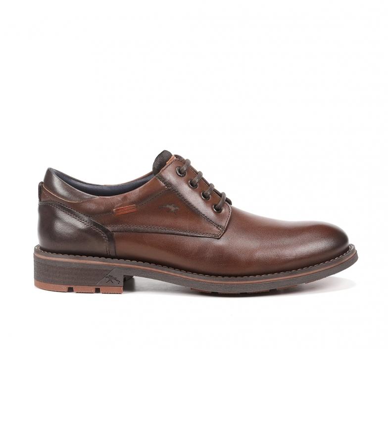 Fluchos Sapatos Terry F1340 em couro castanho