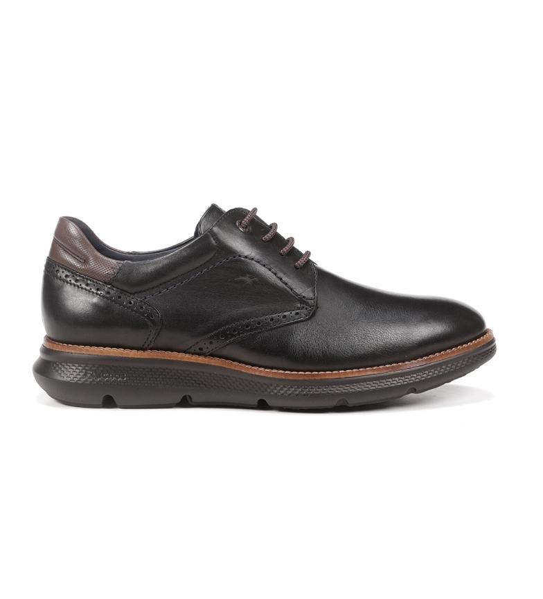 Fluchos William F1351 sapatos de couro preto
