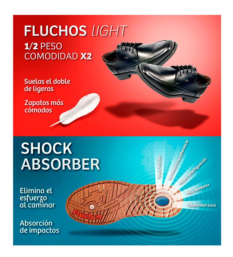 Fluchos Zapatos de piel Crono negro