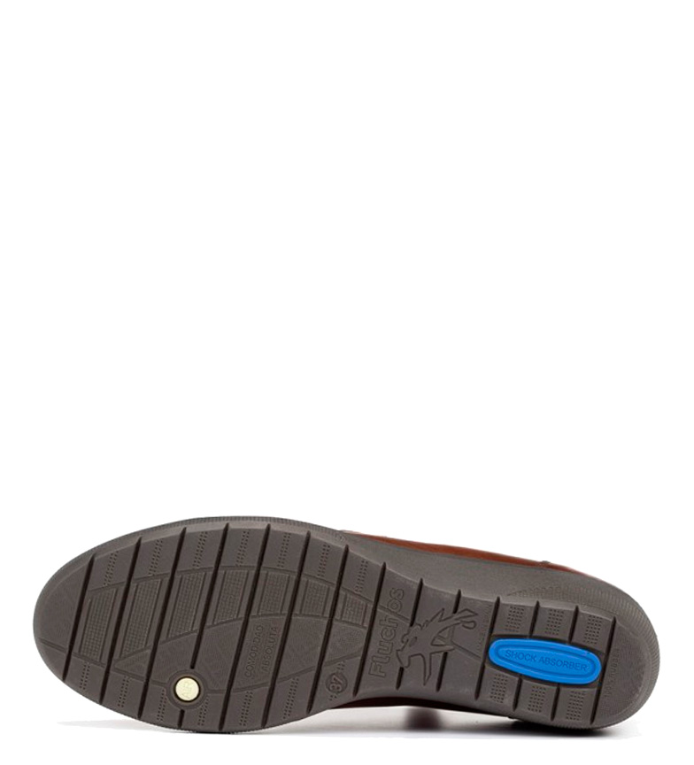 Fluchos 4cm Fluchos Zapatos Zapatos cuña piel Altura cuero de Lena OwOqrz