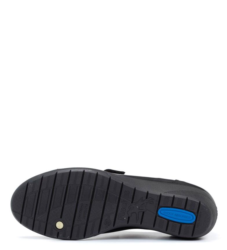 cuña Lena 4cm Fluchos Zapatos Fluchos Altura negro de Zapatos piel 8vfw4q