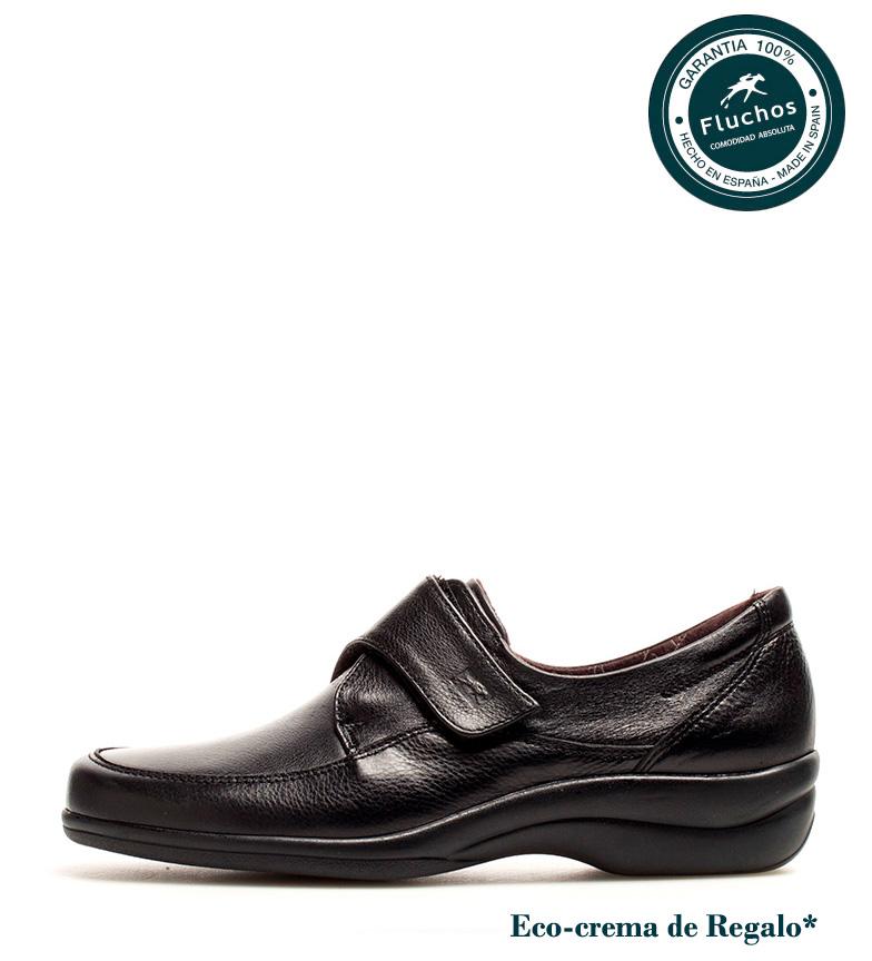 de Zapatos negro br Sanotan Fluchos piel Antialérgico br Fluchos Sanotan Fluchos 196d6f