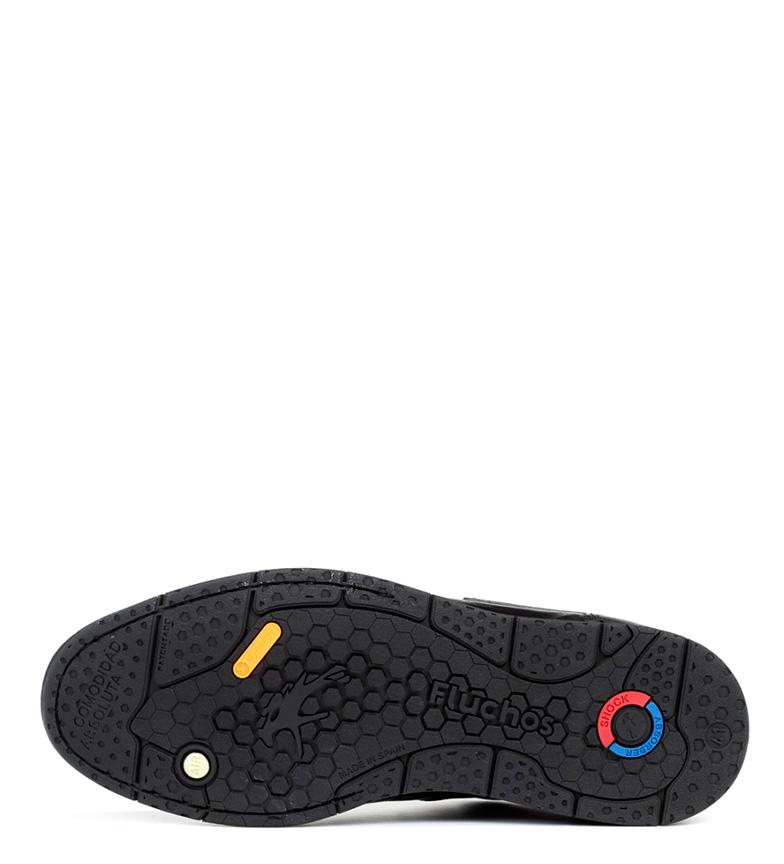 Fluchos Zapatos de piel Tauro negro