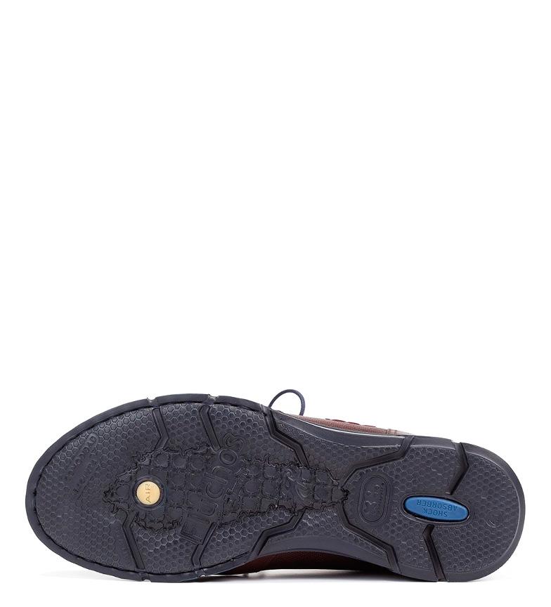 Fluchos Zapatos de piel Tiger brandy