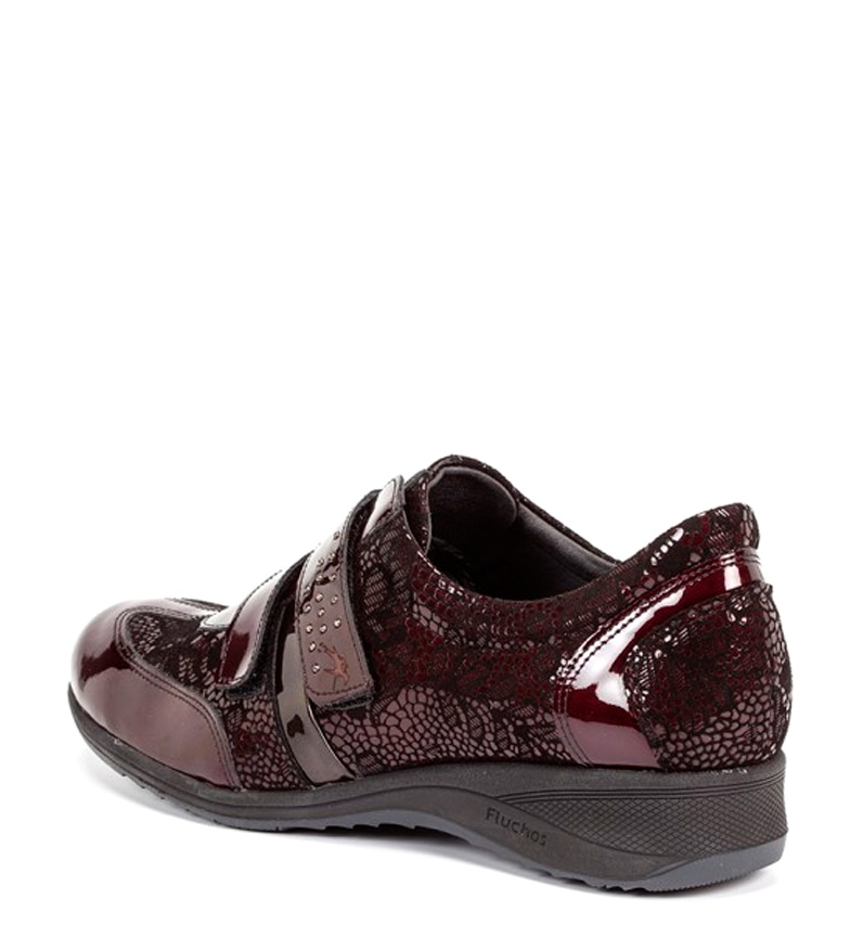 de Zapatos Zaira burdeos Fluchos piel 56qXnx