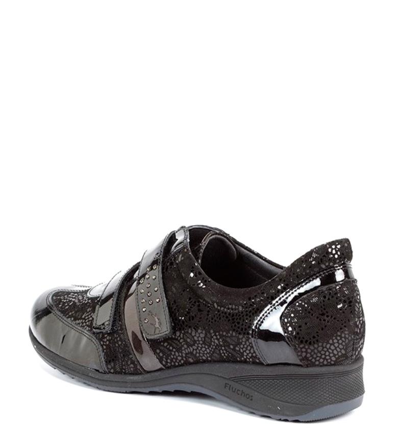 Fluchos negro Zapatos de piel de piel Zaira negro Fluchos Zapatos Zaira F7CF1