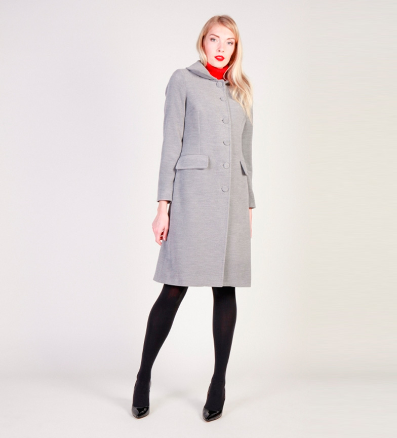 new product 77f8f 3848a Dettagli su Fontana 2.0 - Mareta cappotto grigio Donna Casual Rosa Nero  Poliestere Manica