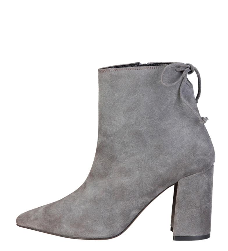 Comprar Fontana 2.0 Michela gray leather boot - Heel height: 8.5cm-