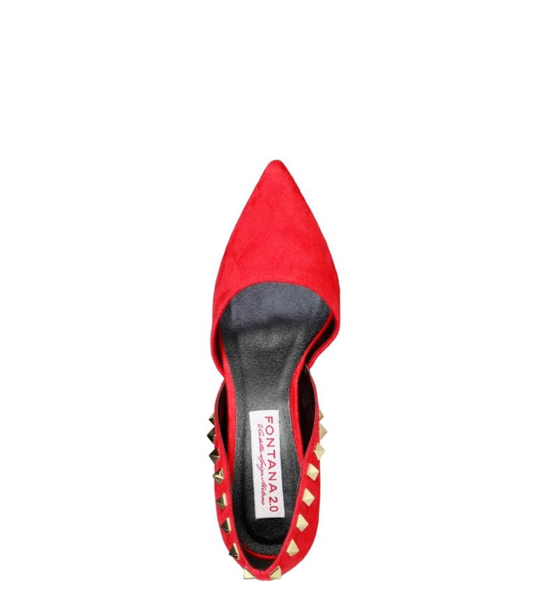 tacón 10cm Zapato Fontana Sharon 0 2 rojo Altura ZqFvS1