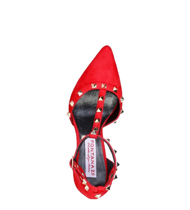 10cm 2 Altura tacón 0 Fontana rojo Vicky Zapato v6WTOn