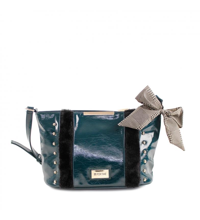 Comprar FOR TIME XL Zurg turquoise shoulder bag -28x20x11 cm