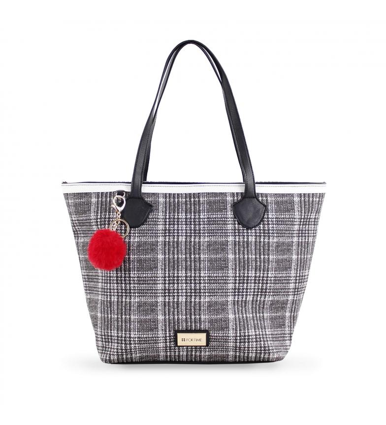 Comprar FOR TIME Borsa shopper in tweed -43x28x12 cm-  grigio