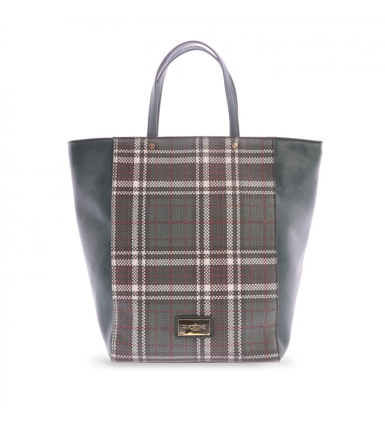 Comprar FOR TIME Shopper bag Tweed green -38x10x34 cm