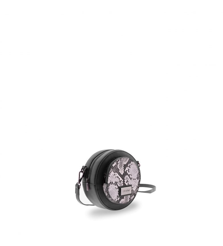 Comprar FOR TIME Borsa a spalla rotonda Jungle nera -18x9x18 cm-