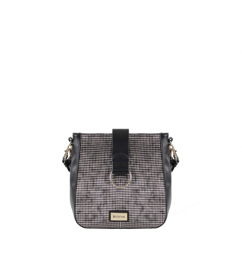 Comprar FOR TIME Cira black shoulder bag -27x26x10 cm