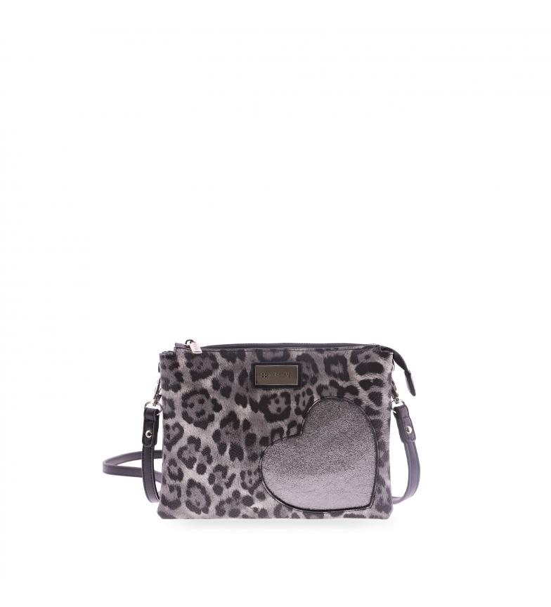 Comprar FOR TIME Cuore black shoulder bag -25x3x18 cm