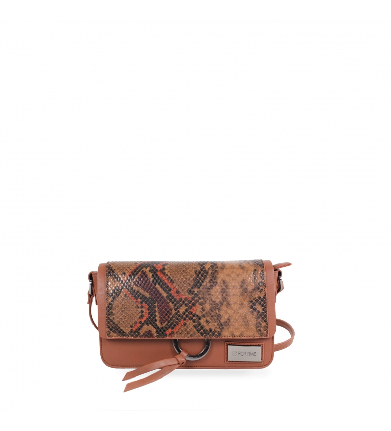 Comprar FOR TIME Borsa a tracolla Jungle marrone -23x7x16 cm-