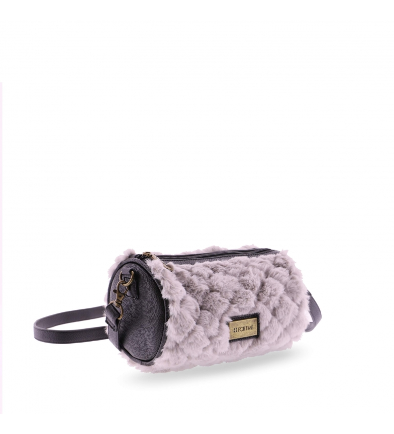 Comprar FOR TIME Furry round shoulder bag grey