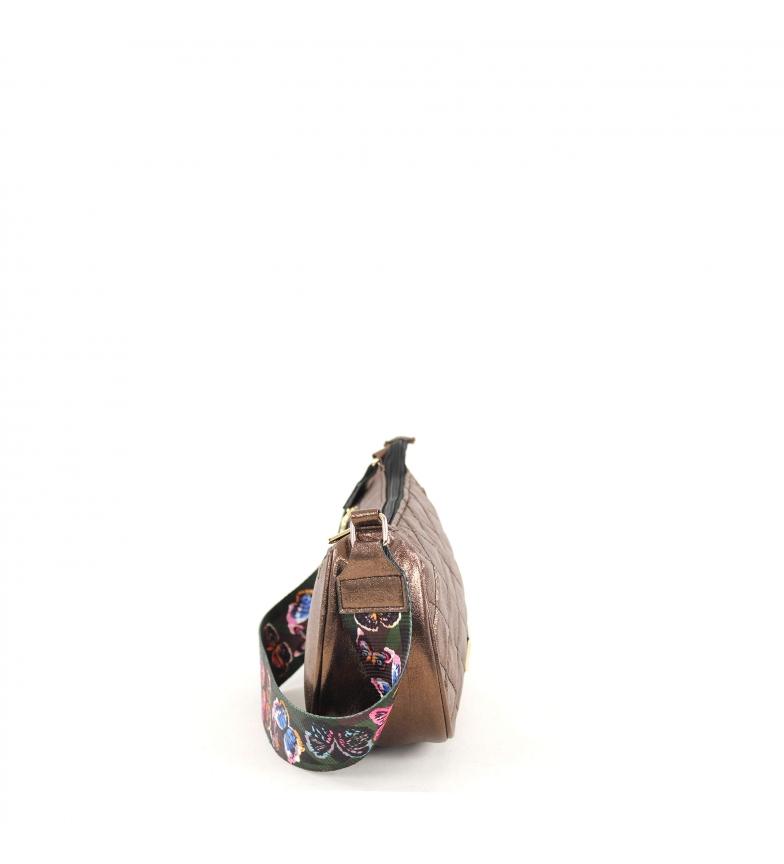 Comprar FOR TIME Taysan gold shoulder bag -25x16x8.5 cm