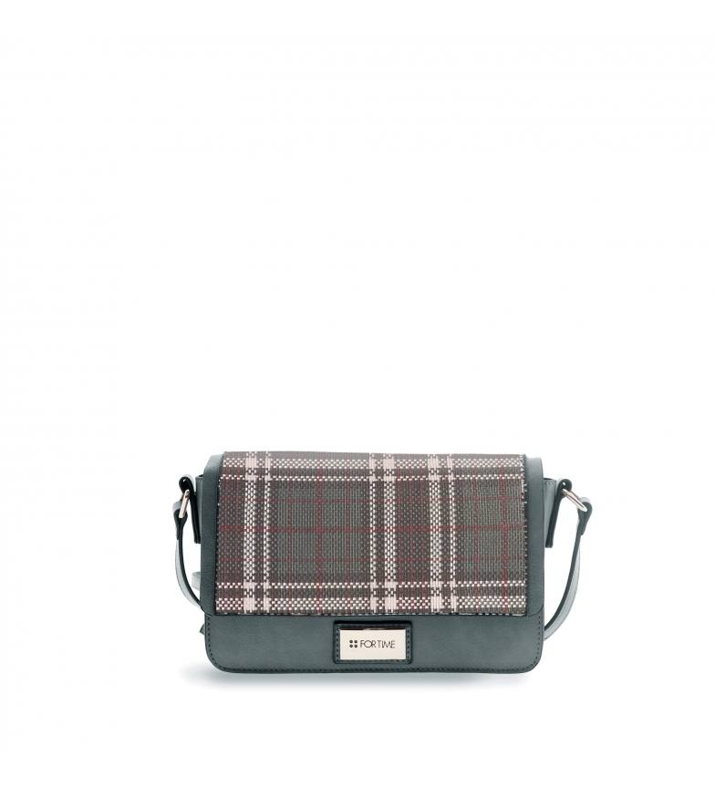 Comprar FOR TIME Green Tweed shoulder bag -23x7x16 cm