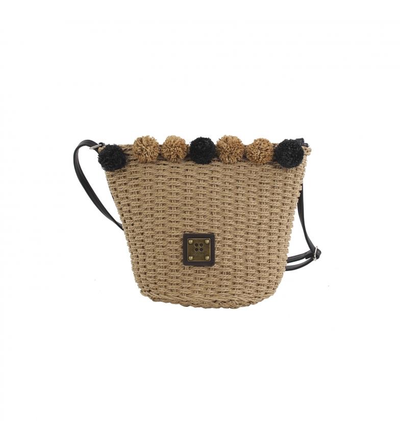 Comprar FOR TIME Borsa a spalla in raffia marrone Sand Beach -28x20x18 cm-