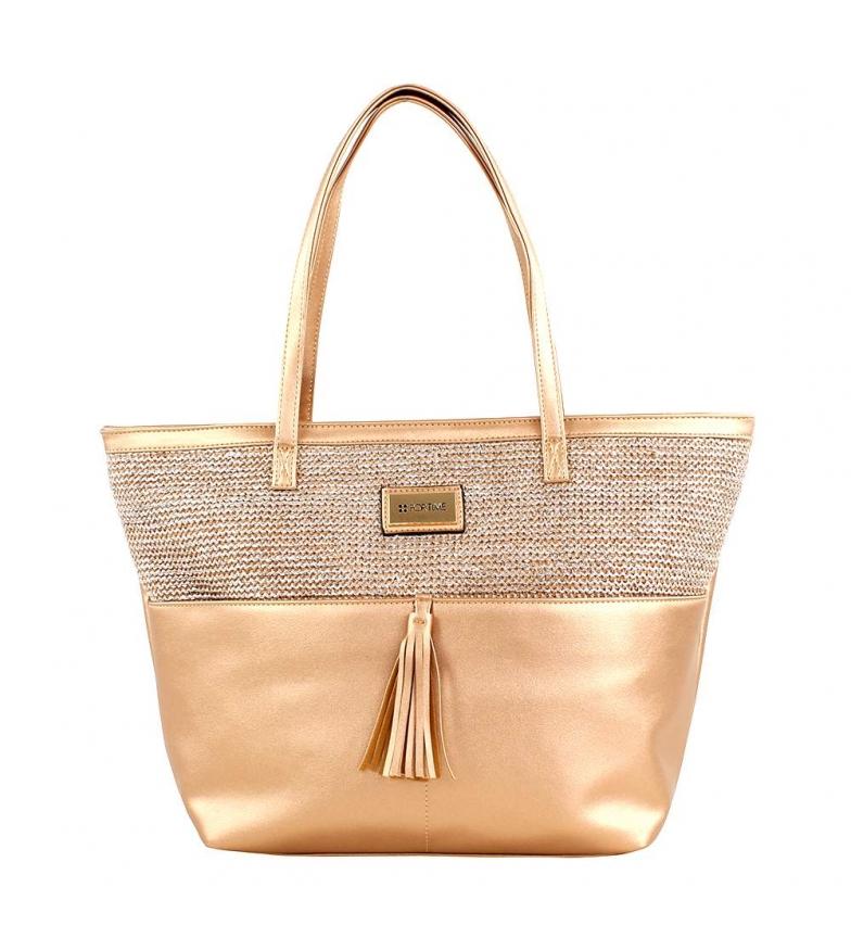 Comprar FOR TIME Hizb brown shopper bag -45x29x12.5 cm