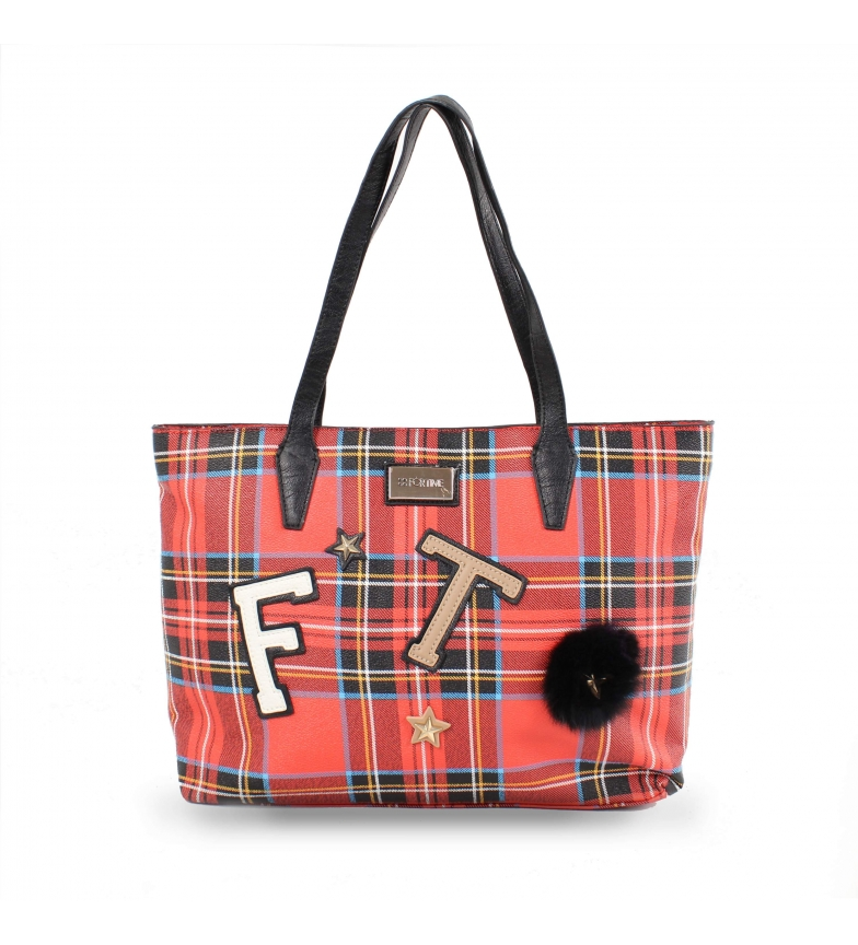 Comprar FOR TIME Shopper School bag red -40x11x28 cm