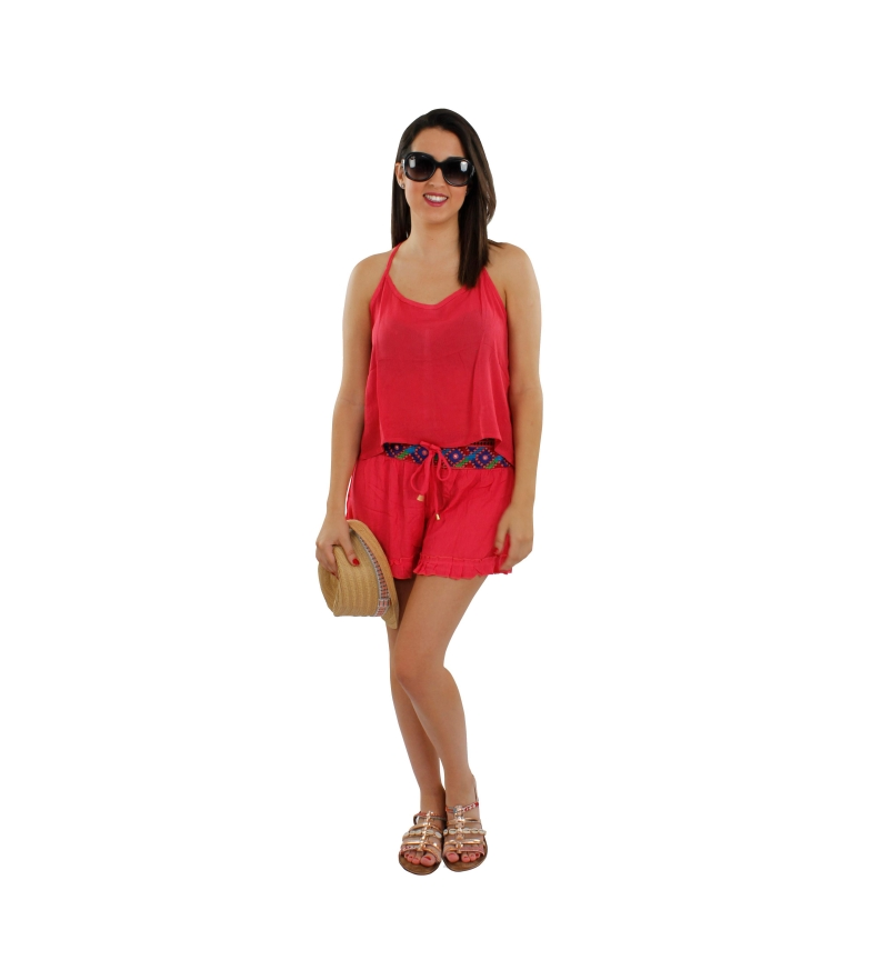 Comprar FOR TIME Set of red Neamon shorts and top