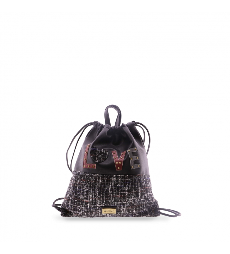 Comprar FOR TIME Mochila saco do amor preto -39x45 cm