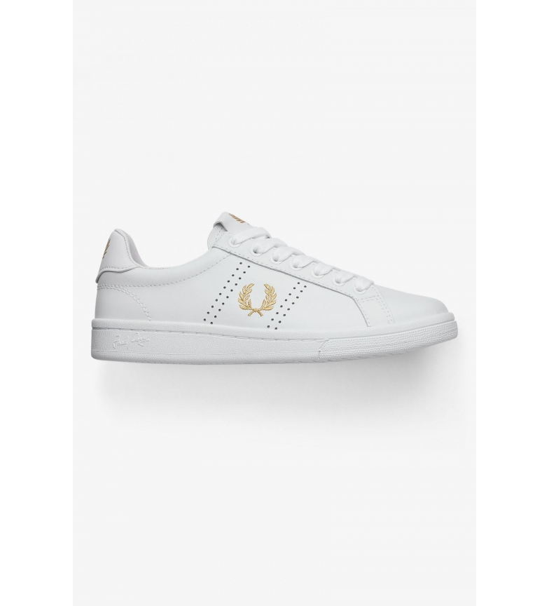 Comprar Fred Perry Leather sneakers B721 white, golden