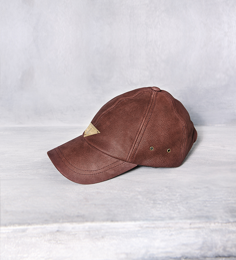 Comprar Fyord Cappellino in pelle marrone Asvald