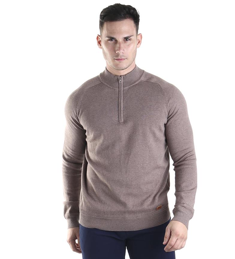 Comprar Fyord Cotton and silk sweater Bilge brown