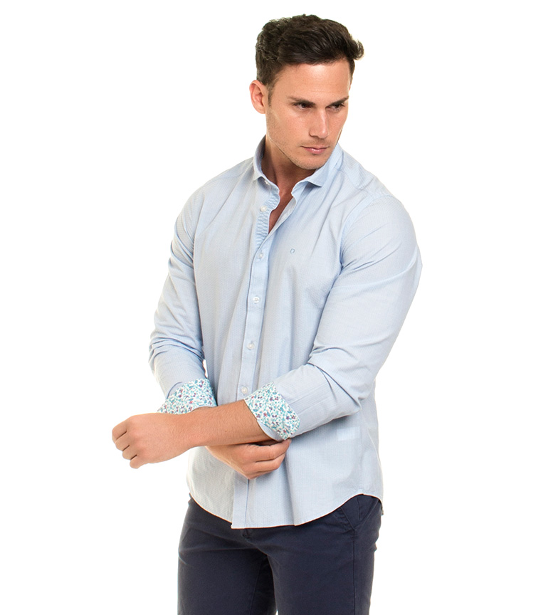 Fyord Camisa Brogo azul claro