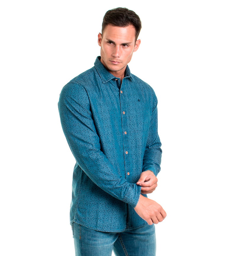Fyord Camisa Malik azul