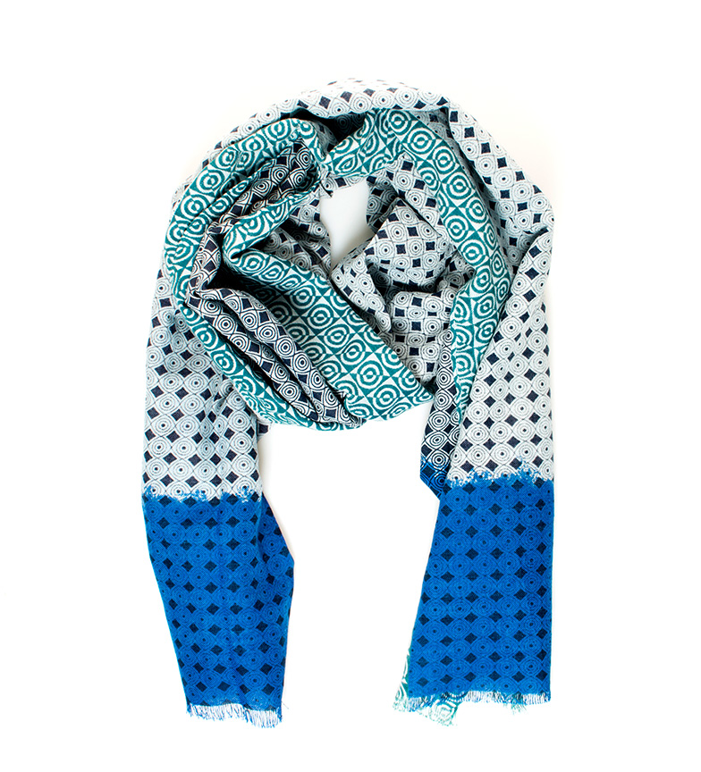 Comprar Fyord Gibb foulard azul
