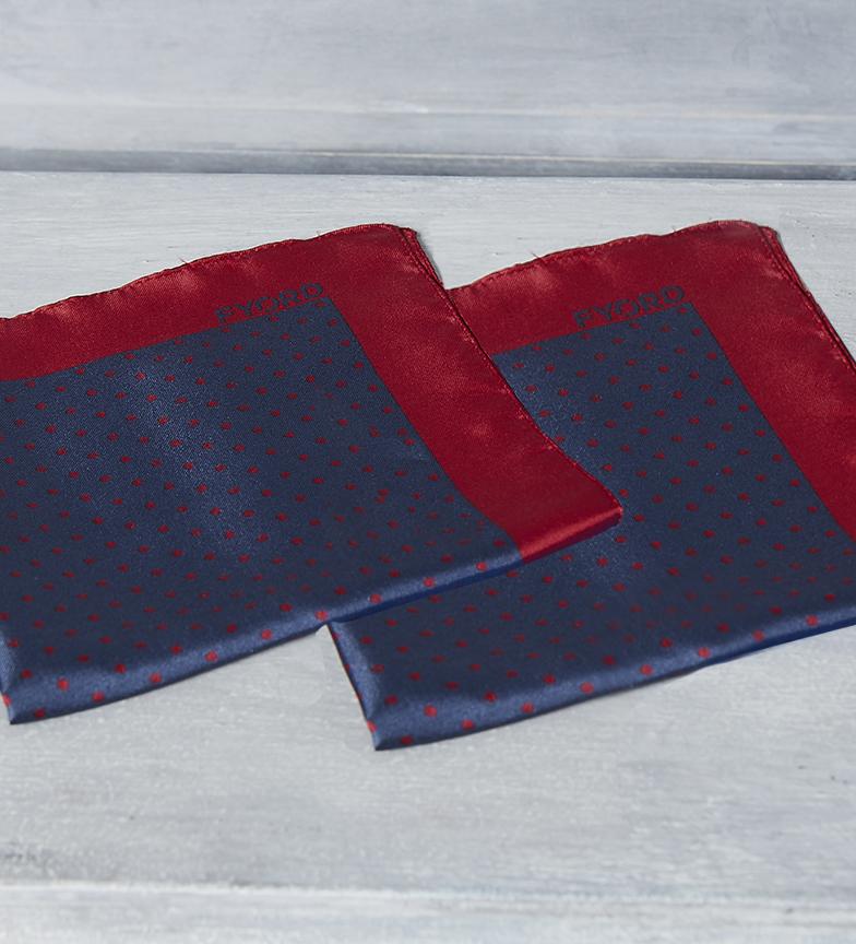 Comprar Fyord Cachecol de seda Top marine, vermelho